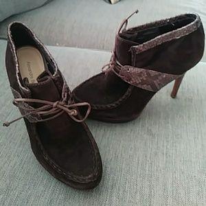 Alexandre birman brown python ankle boots